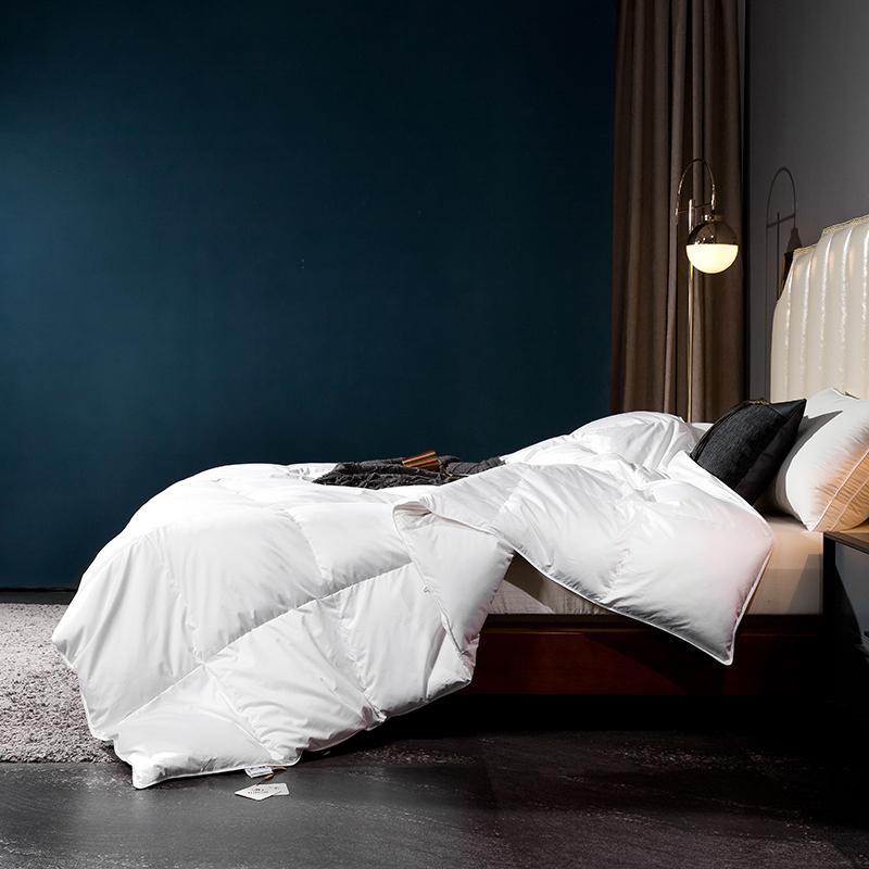 呆头鹅2020新款80支柔赛丝标准款特价款羽绒被系列 白色