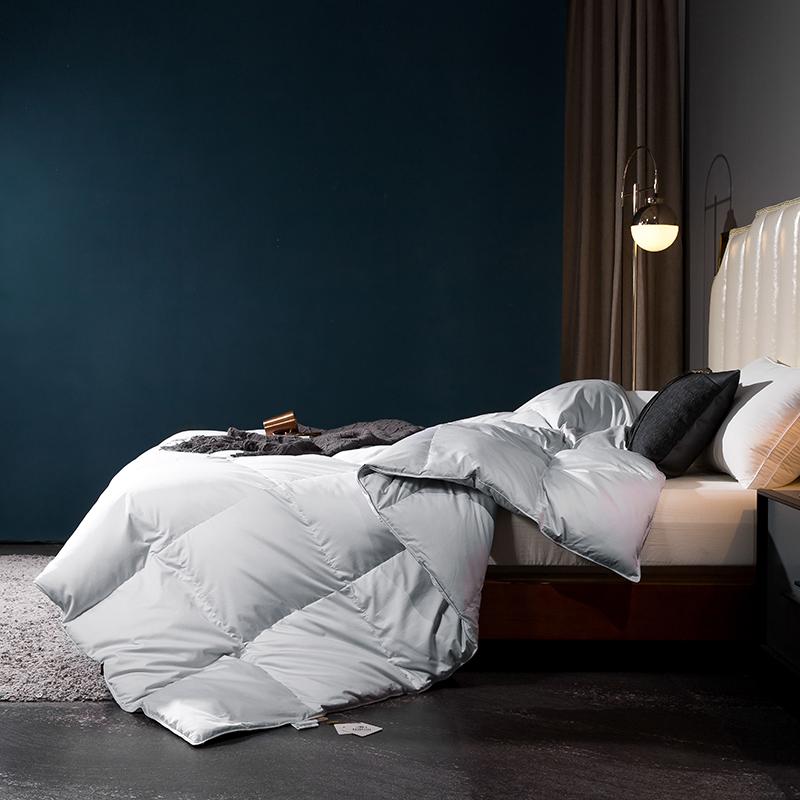 呆头鹅2020新款80支柔赛丝标准款特价款羽绒被系列 灰色