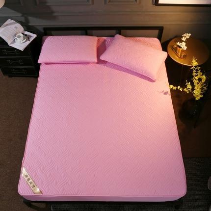安朵 2020新款13372斜纹纯棉夹棉床笠 粉色