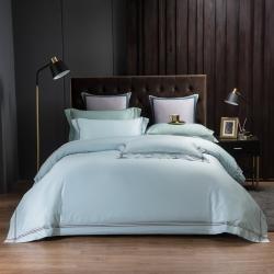 (总)舒乐居 2020新款酒店款全棉四件套纯色轻奢风