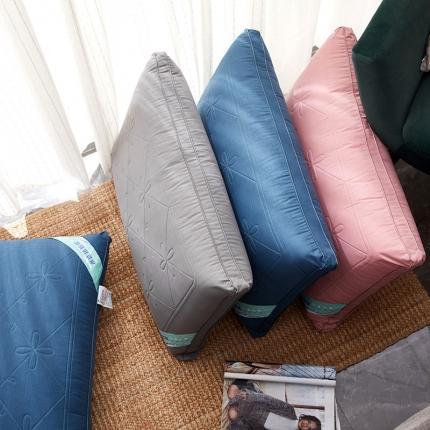 2020新品枕芯 60支全棉绣花热熔枕头 弹性好 可水洗