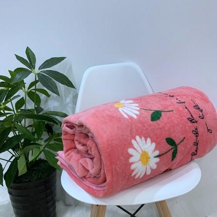 简一色 2020年法莱绒毛毯珊瑚绒毛毯云貂绒毛毯 小雏菊
