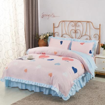 爱妮玖玖 套件10:全棉夹棉床单(床盖)四件套普款
