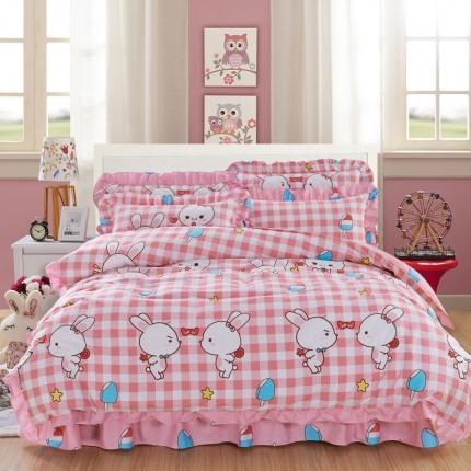 爱妮玖玖 套件10:全棉夹棉床单(床盖)四件套春天款