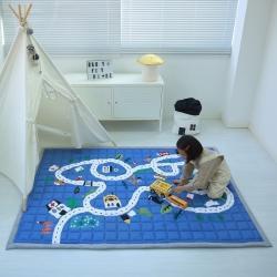 (总)飞达 2020韩国新款加厚长方形棉质地垫