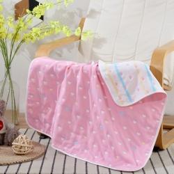 2020新款纯棉全棉六层纱布婴儿童被 80x80cm/条