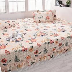(总)新款牛奶绒床盖炕单夹棉床单炕盖花色更新到4月10日