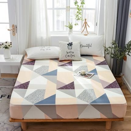 芭比蔓 2020新款针织牛奶丝弹力单床笠 几何图形