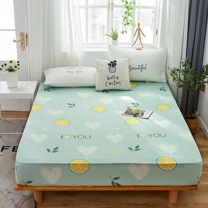 芭比蔓 2020新款针织牛奶丝弹力单床笠 柠檬派对