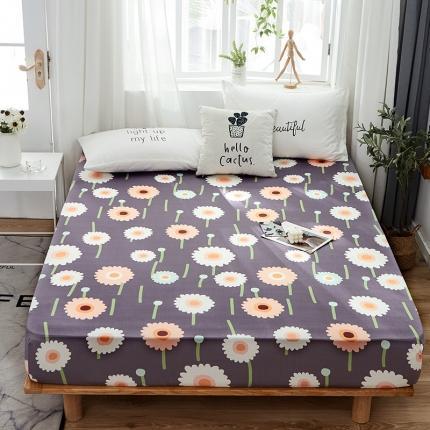 芭比蔓 2020新款针织牛奶丝弹力单床笠 向日葵