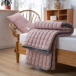 (总)卡伦家纺全棉水洗棉四季款夹棉床垫榻榻米防滑薄款床褥子