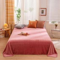 (总)雅萱 2020新款牛奶绒保暖床单毛毯单面绒法兰绒法莱绒