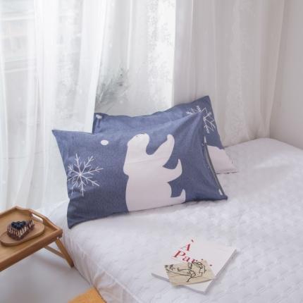 澳玛尼   2020新款ins全棉枕套一对 雪花熊