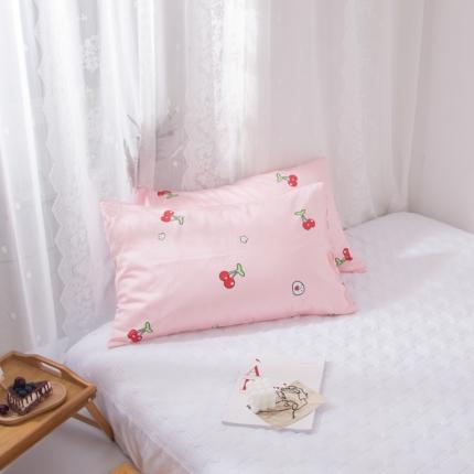 澳玛尼   2020新款ins全棉枕套一对 樱桃爱