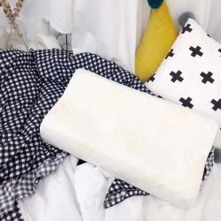 微商爆款大V牌狼牙乳胶枕舒适按摩天然乳胶填充保健舒适枕