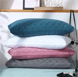 (总)浩宇家纺 爆款全棉枕芯立体羽丝绒低枕中枕高枕三线格枕头
