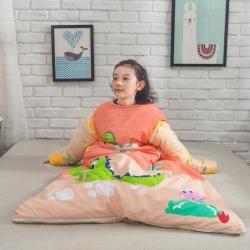 (总)家佳梦 2020新款全棉带袖式儿童睡袋防踢被子