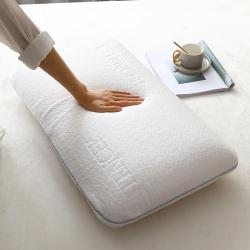 睡趣 泰国进口天然乳胶枕天丝大面包枕芯40-70枕头