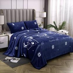 赋雅家纺 双面绒毯子超柔加厚云貂绒毛毯法莱绒毛毯 床单盖毯 岭上人家