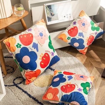 暖树 2020新款荷兰绒抱枕毯抱枕被 元气满满