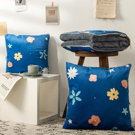 暖树 2020新款荷兰绒抱枕毯抱枕被 约定