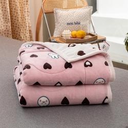 (被窝)2020秋冬珊瑚绒毛毯牛奶绒三层复合毯加厚保暖毯子