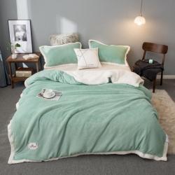 (总)优卡莲功能毯加厚保暖马卡龙双层羊羔绒牛奶绒毛毯被套毯