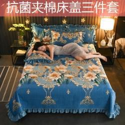 (总)情书 2020水晶绒床盖夹棉宝宝绒单床盖三四件套