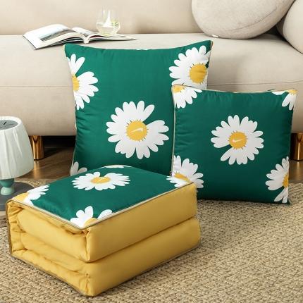 暖树家居 2020新款数码印花抱枕被叠拍图 小雏菊