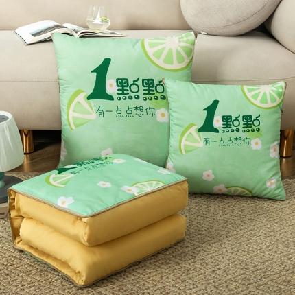 暖树家居 2020新款数码印花抱枕被叠拍图 有点想你