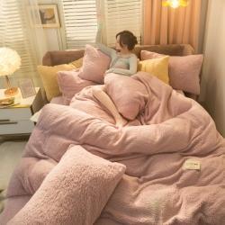 爆款羊羔绒四件套多功能三件套床单被套法莱绒牛奶绒毛毯子可单卖
