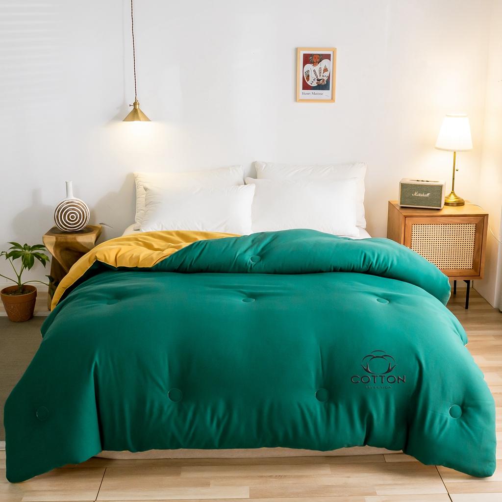 大世界被王 2020新款新概念棉花被 姜黄+墨绿
