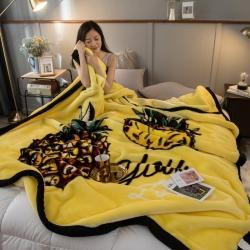 炣炣 2020新款拉舍尔经编毛毯休闲毯盖毯毯子 菠萝