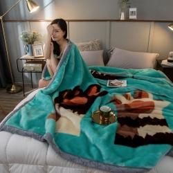 炣炣 2020新款拉舍尔经编毛毯休闲毯盖毯毯子 喵爪