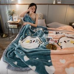 炣炣 2020新款拉舍尔经编毛毯休闲毯盖毯毯子 情侣