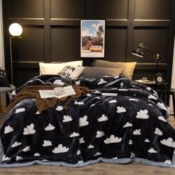 炣炣 2020新款拉舍尔经编毛毯休闲毯盖毯毯子 白云朵朵