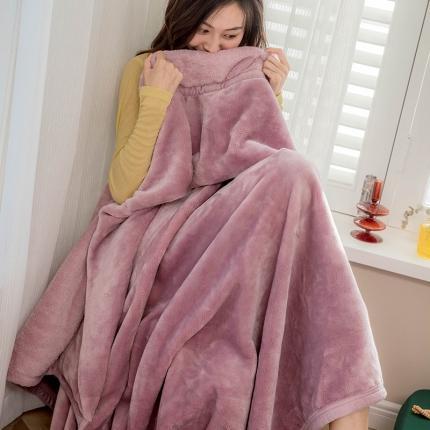 寐眠 2020新款法莱绒毛毯 紫色