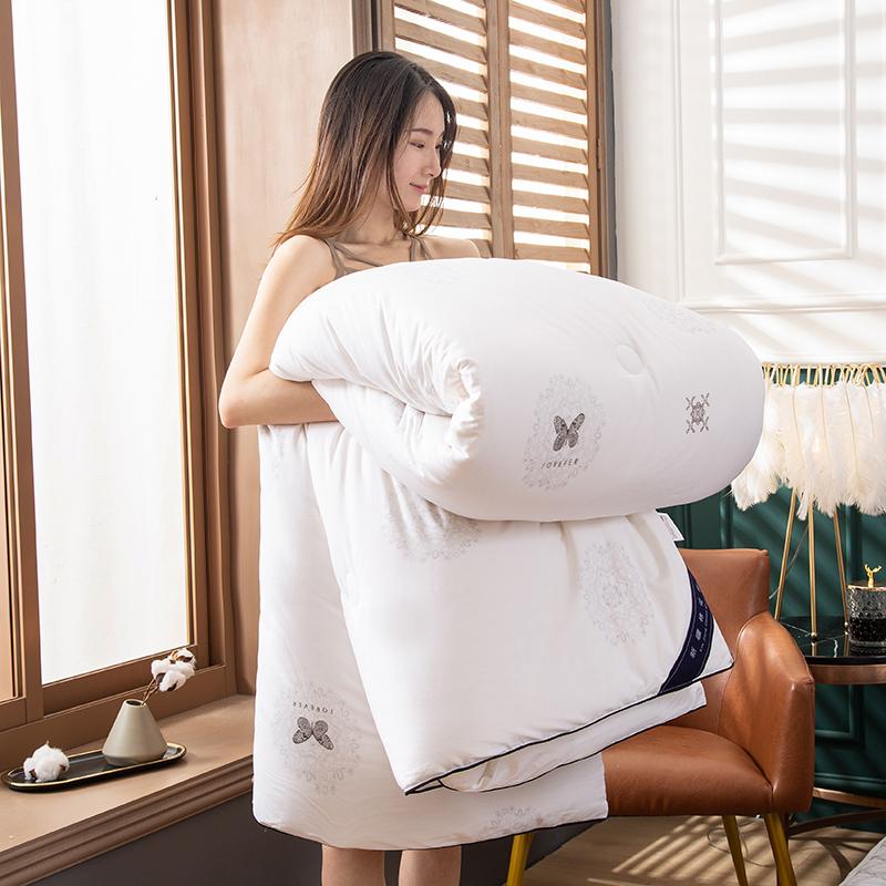卡诗兰顿2020新款60S全棉新疆棉花被被芯冬被 蝶恋花