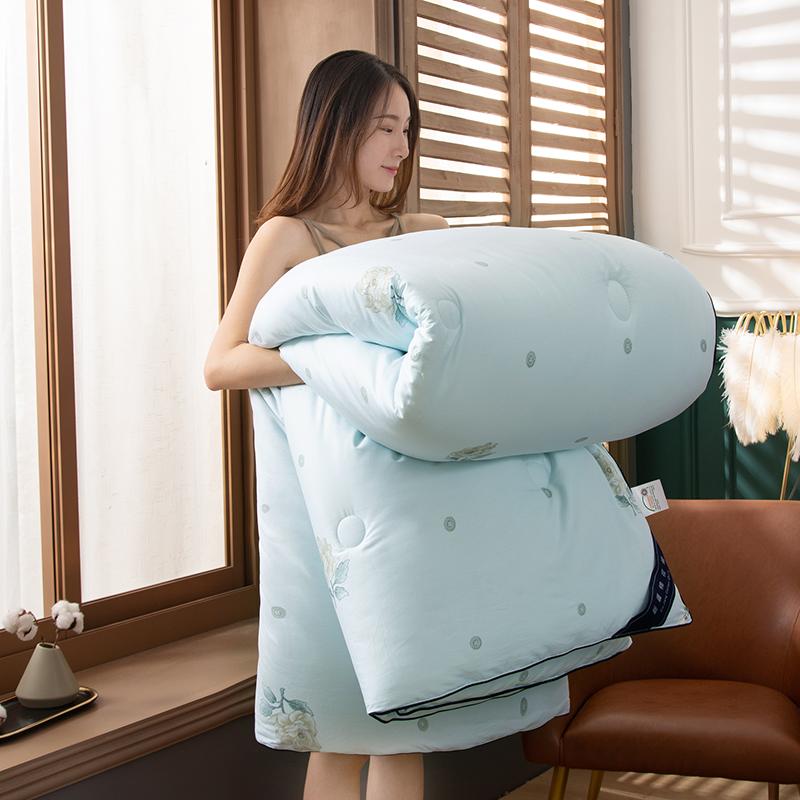 卡诗兰顿2020新款60S全棉新疆棉花被被芯冬被 康乃馨