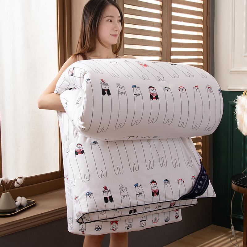 卡诗兰顿2020新款60S全棉新疆棉花被被芯冬被 熊先生