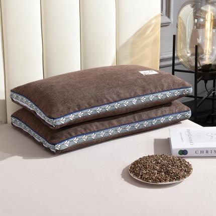 (总)九诺家纺 2021新款枕芯麻绒全荞麦枕头