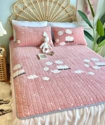 2020新款牛奶绒乳胶床垫床盖三件套珊瑚绒法莱绒保暖床褥垫子 小绵羊
