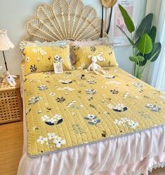 2020新款牛奶绒乳胶床垫床盖三件套珊瑚绒法莱绒保暖床褥垫子 知秋