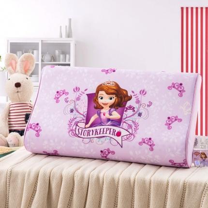 迪士尼 2020新款冰丝款乳胶枕苏菲亚紫色