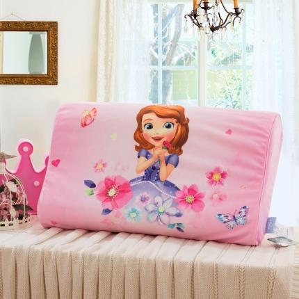 迪士尼 2020新款宝宝绒面料乳胶枕花仙子苏菲亚