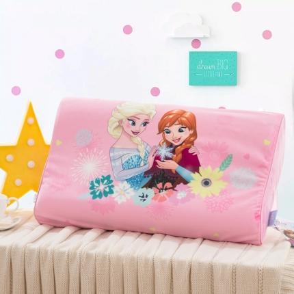 迪士尼 2020新款宝宝绒面料乳胶枕守护冰雪姐妹