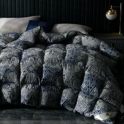 织梦人羽绒被花型95级鹅绒被120支全棉活性印花大量现货