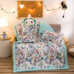 梦幻岛 2021新款豆豆毯系列秋冬婴儿豆豆绒抱被 米洛家族
