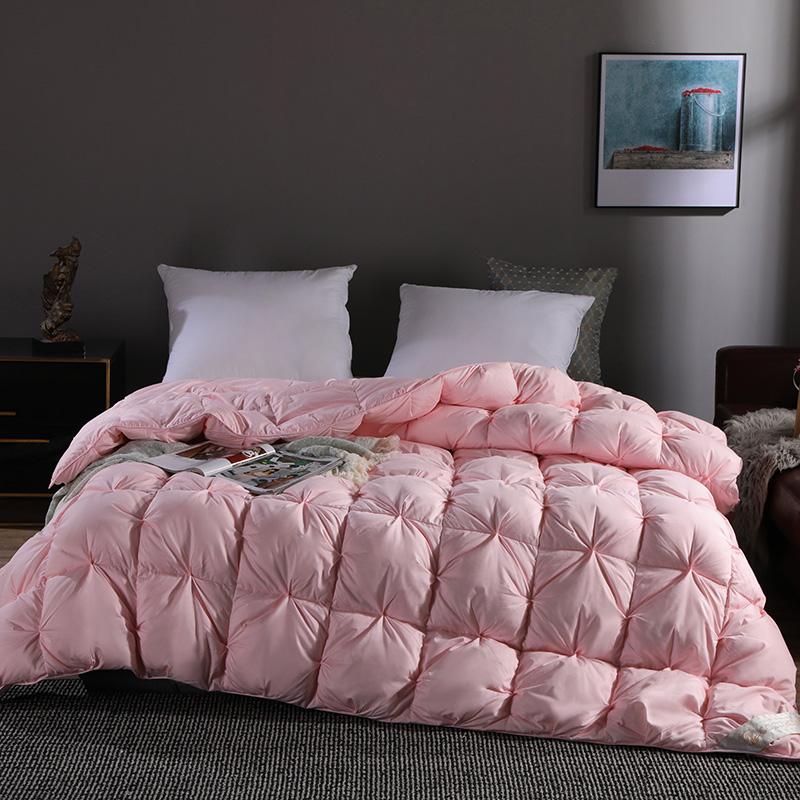COCO HOUSE 新款80支柔赛丝柔赛丝扭花鹅绒被 粉色