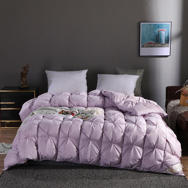 COCO HOUSE 新款80支柔赛丝柔赛丝扭花鹅绒被 紫色